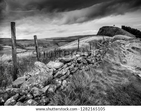 An image of the Great Ridge between Edale and Castleton in the Peak District, UK. Stock fotó ©