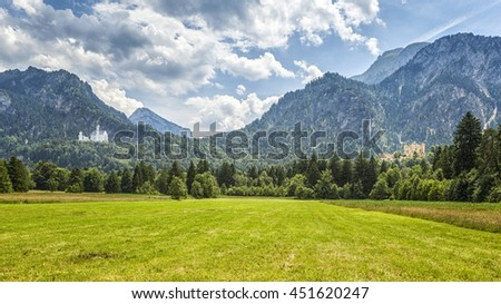 An image of the Palace Neuschwanstein and Hohenschwangau in Bavaria Germany #451620247