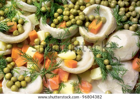 an image of Turkish foods at the buffet - stock photo