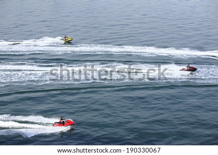 An image of Water jet skiing