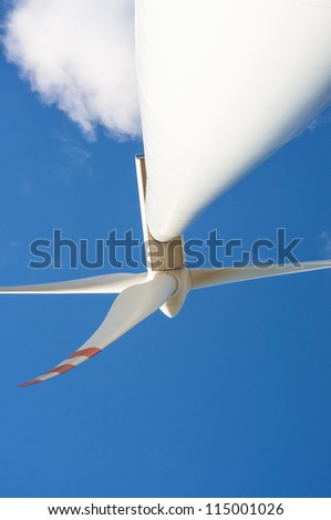 An image of windturbine on sunny day