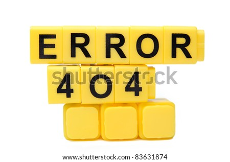 An image of yellow blocks with word ''error'' on them