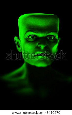 An image that is a bit like Frankenstein monster. Which would make a good Halloween image.