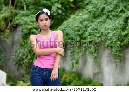 An Impatient Beautiful Filipina Female