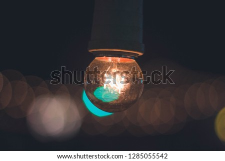 An incandescent light bulb, incandescent lamp or incandescent light globe is an electric light with a wire filament heated to such a high temperature that it glows with visible light (incandescence).