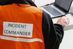 An Incident Commander is in charge at any natural or man made disaster or major accident. Telecommunications is very important to keep on top of the situations as they develop.