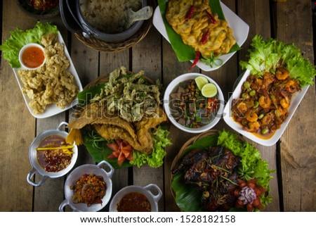an indonesian cuisine sundaness cuisine very popular in bandung area.