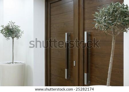 an indoor image with pvc door