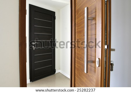 an indoor image with two pvc doors