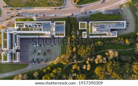 An industrial complex called Porto do Molle located in Nigran Galicia Spain. View of the Zona Franca buildings Foto stock ©