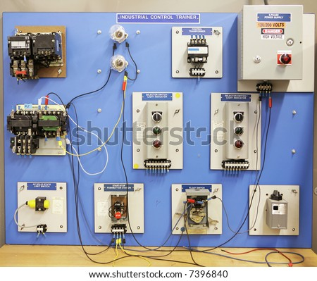 an industrial motor control training panel used in adult. Black Bedroom Furniture Sets. Home Design Ideas