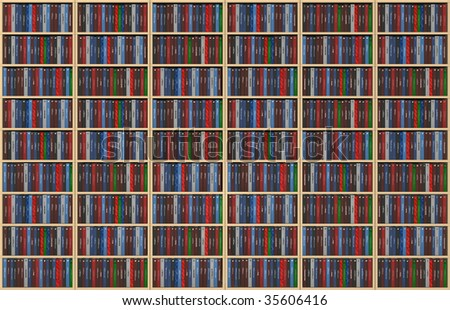 An Infinite Texture Representing A Bookshelf Filled With Books