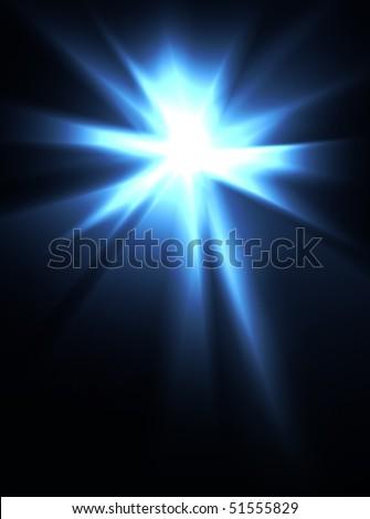 An intense burst of bright light.