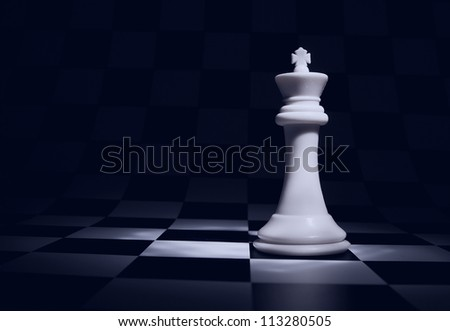 Stock Photo An interesting arrangement of pieces on the chessboard