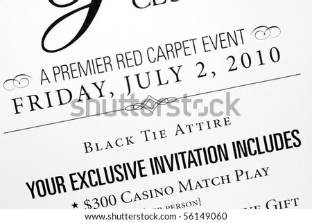 An invitation card for a special event