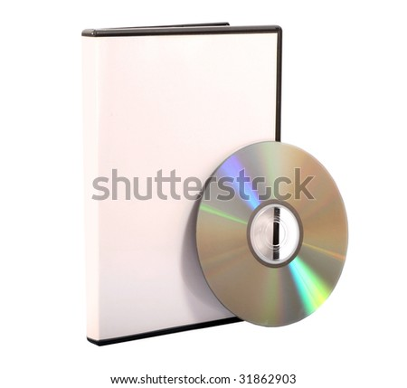 An isolated CD and DVD Case