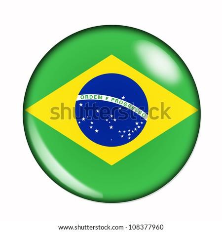 An isolated circular flag of Brazil