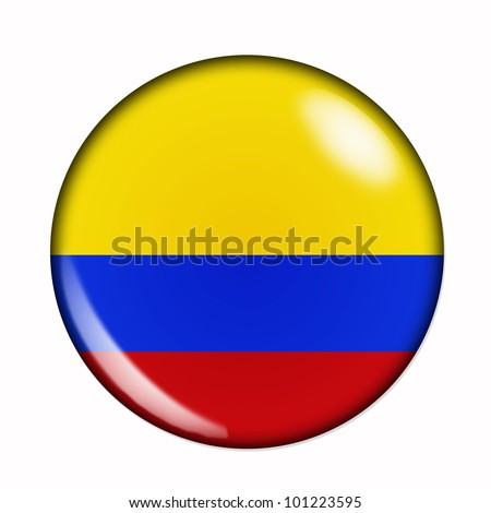 An isolated circular flag of Colombia