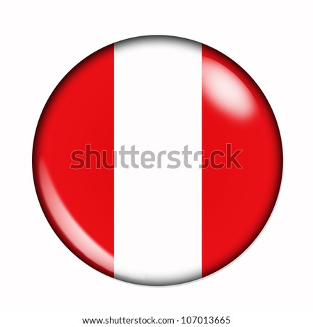 An isolated circular flag of Peru