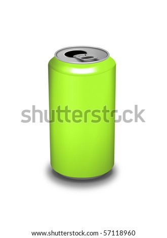 An isolated green can