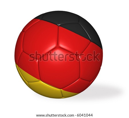 An isolated image of a german soccer ball.