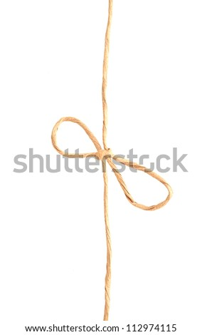 An isolated recycled knot rope