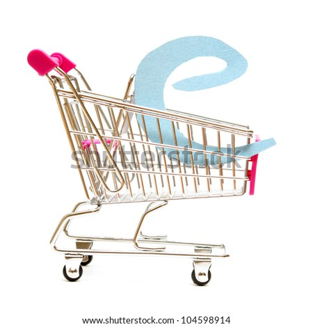 An isolated shopping cart providing online shopping.