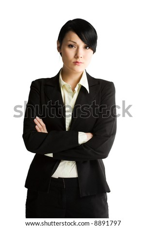 An isolated shot of a beautiful young businesswoman