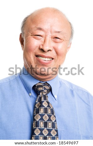 An isolated shot of a senior asian businessman