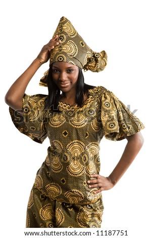Фото со стока - Портрет красивые африканские женщины в традиционной...