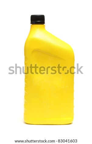 An isolated shot of an automobile oil jug.