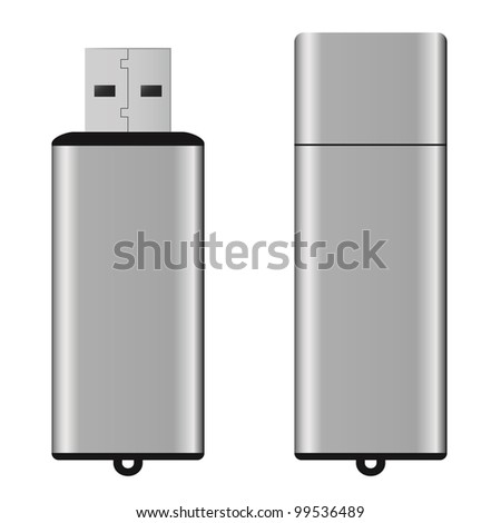 An isolated USB pen drive