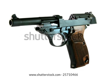 An Isolated Vintage World War II Pistol - stock photo