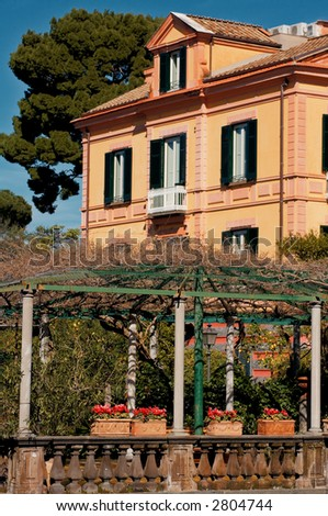 An Italian style country villa in Sorrento, with garden and balcony