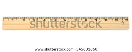 An lifetime 12 inch ruler  - Shutterstock ID 545801860