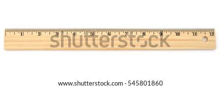 An lifetime 12 inch ruler  - Shutterstock ID 545801860
