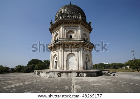 An octagonal Mausoleum of one of the members of the Qutb Shahi Dynasty in Hyderabad India