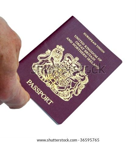 An official British Passport isolated on white