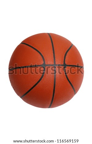 An official size basketball isolated on a white background with a clipping path