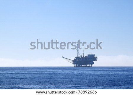 an offshore oil drilling platform near Ventura California