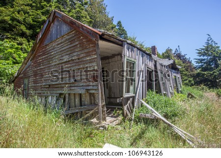 An old, abandoned and decaying house