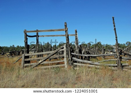 An Old Abandoned Corral in New Mexico USA