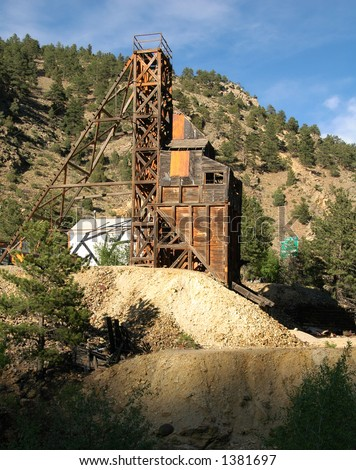 An old abandoned gold mine
