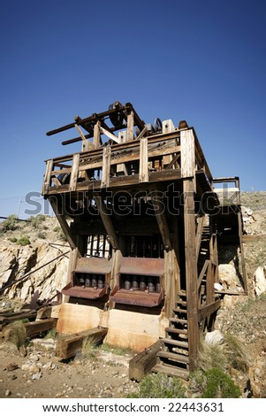 An old abandoned gold mine.
