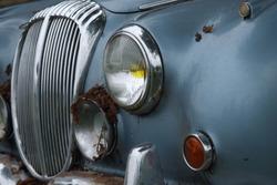 An old abandoned Jaguar Mark II