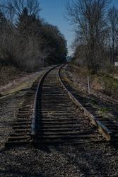AN OLD ABANDONED RAILWAY IN BELLEVUE WASHINGTON