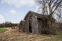 An old abandoned shack in the country.