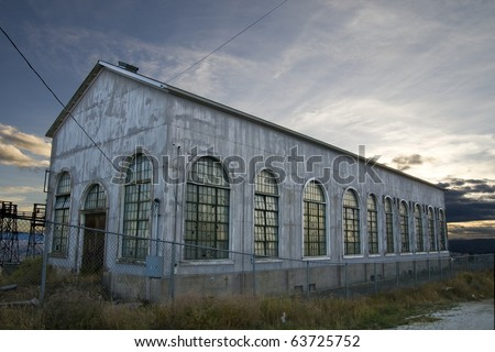 An old, abandoned warehouse in Butte, Montana