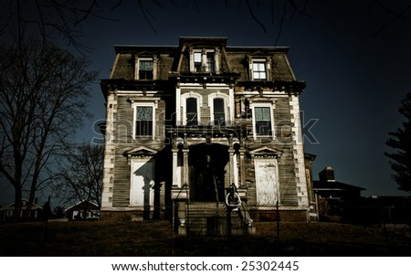 An old abondoned mansion in bad condition