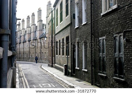 An old alley in Cambridge UK